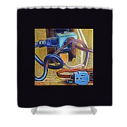 The Electronic Age Shower Curtain