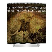 The Elephant - Inner Strength Shower Curtain