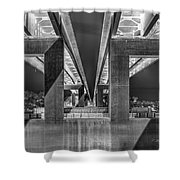 The Elevated Freeway Shower Curtain
