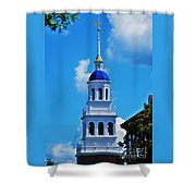 The Eliot House Tower, Harvard Shower Curtain