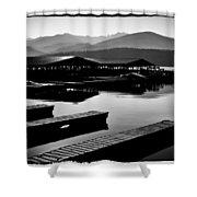 The Elkins Marina On Priest Lake Idaho Shower Curtain