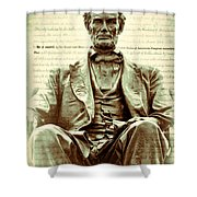 The  Emancipation Proclamation And Abraham Lincoln Shower Curtain