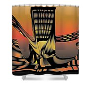 The Ember Tree Shower Curtain