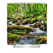 The Emerald Forest 15 Shower Curtain