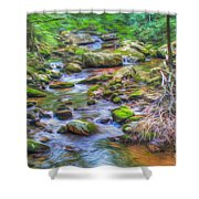 The Emerald Forest 6 Shower Curtain
