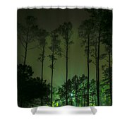 The Emerald Forest Shower Curtain