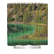 The Emerald Green Waters Of Emerald Shower Curtain