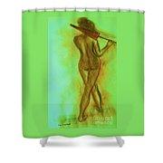 The Emerald Stroll Shower Curtain