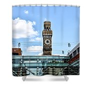 The Emerson Bromo-seltzer Tower Shower Curtain