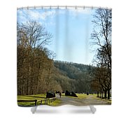 The Emme's Promenade Path Shower Curtain