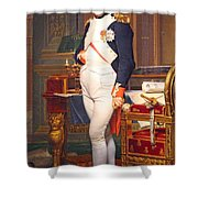 The Emperor Napoleon In His Study At The Tuileries By Jacques Louis David Shower Curtain