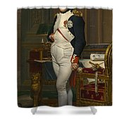 The Emperor Napoleon In His Study Shower Curtain
