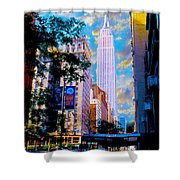 The Empire State Building Shower Curtain by Jon Neidert