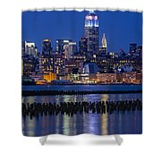 The Empire State Building Pastels Esb Shower Curtain