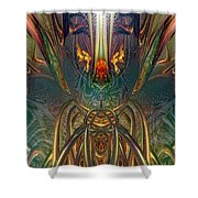 The Enchanted Candle Light Fire Fx  Shower Curtain