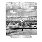 The End Bw Shower Curtain