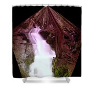 The End Of Silver Falls  Shower Curtain