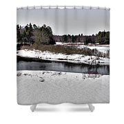 The End Of Winter On The Moose River Shower Curtain