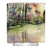 The End Of Wonderful Day Shower Curtain