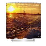 The End To A Fishing Day Shower Curtain