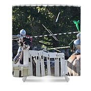 The End To The Jousting Contest  Shower Curtain
