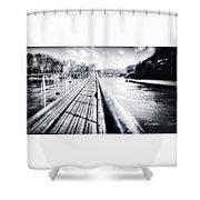 The Endless Bridge Shower Curtain