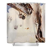 The Enemy Crashed To The Earth Shower Curtain