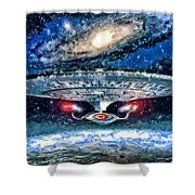 The Enterprise Shower Curtain by Joe Misrasi