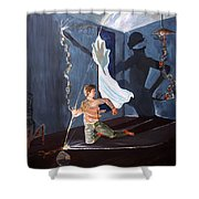 The Entity Of Fear Shower Curtain