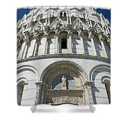 The Entrance To The Baptistery In Pisa  Shower Curtain