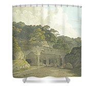 The Entrance To The Elephanta Cave Shower Curtain