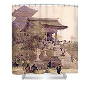 The Entrance To The Temple Of Kiyomizu Dera Kyoto Shower Curtain