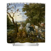The Entry Of The Animals Into Noahs Ark Shower Curtain