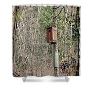 Birdhouse Environment Of Hamilton Marsh  Shower Curtain