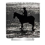 The Equestrian-silhouette Shower Curtain
