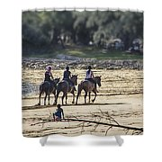 The Equestrians   Shower Curtain