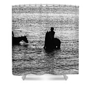 The Equestrians-silhouette Shower Curtain