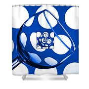 The Eternal Glass Blue Shower Curtain