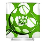 The Eternal Glass Green Shower Curtain