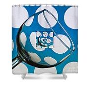 The Eternal Glass Light Blue Shower Curtain