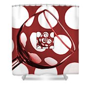 The Eternal Glass Red Shower Curtain