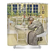 The Evening Before The Journey Shower Curtain