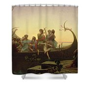 The Evening Shower Curtain by Charles Gleyre