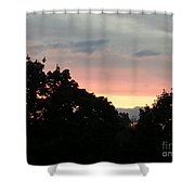 The Evening Sky Shower Curtain