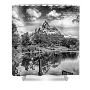 The Everest Roller Coaster Shower Curtain