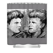 The Everlys In Monochrome Shower Curtain