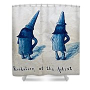 The Evolution Of The Artist Shower Curtain