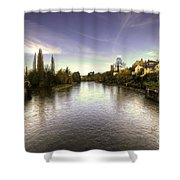 The Exe At Tiverton  Shower Curtain