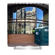 The Executive Office Building Reflection  Shower Curtain