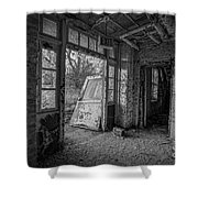 The Exit Bw Shower Curtain